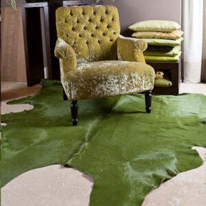 kaki groen geverde huid solid