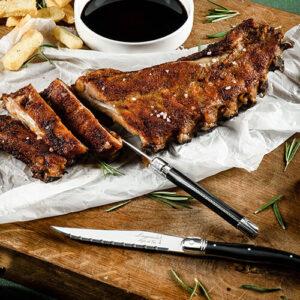 steak messen zwart
