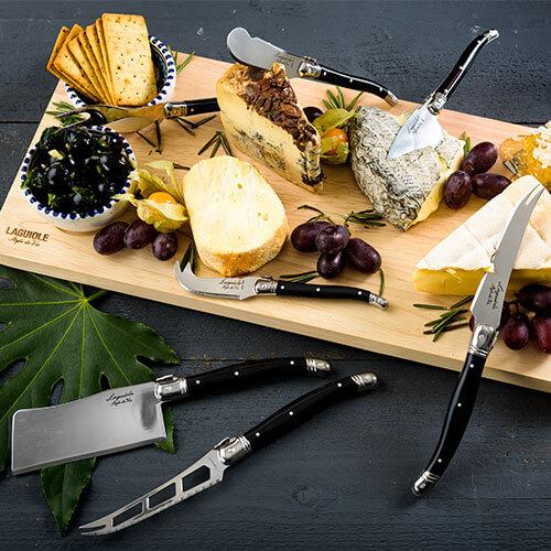 Grote serveerplank voor 8 kaasmessen - laguiole style de vie