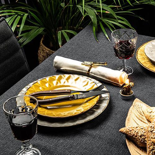 laguiole style de vie steakmes en vork zwarte wenge