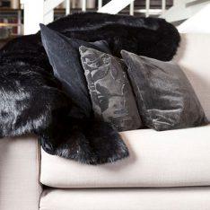 black konijn imitatie bont sprei