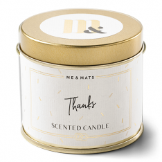 Scented candle in a can - vegan soy wax - THANKS - me & mats